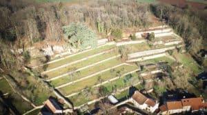 Jardins en terrasses clos de la roche